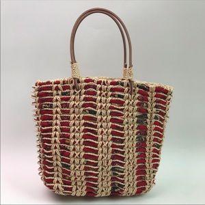 Vera Bradley Tweed Rope Handbag Tote